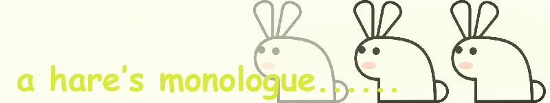 a hare's monologue