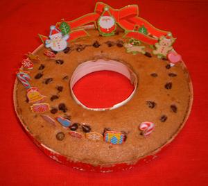 自作クリスマスリースケーキ