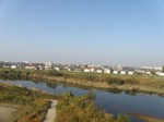 付近を流れる川の風景