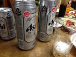 夜のビールは最高でした。