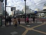 朝のJR川崎駅前(2015年12月30日)
