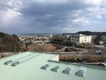 高台から眺める広野町の海