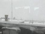 新潟県の内陸は吹雪でした。