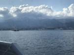 佐渡ヶ島 from ジェットフォイル船上