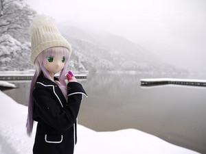 雪の木崎湖クリスマスパーティー2