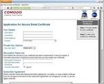 CoMoDo社のS/MIME証明書申請
