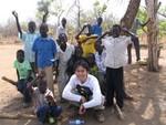 南部スーダン、テレケカ州の集落で