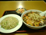 担々麺とチャーハン