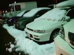 青森空港で青空駐車