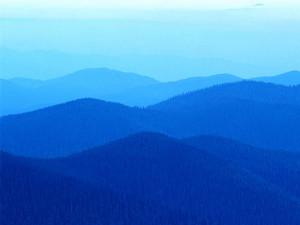 collines bleues