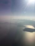 機内から見る朝鮮半島南部