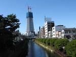 やっぱり斜めに見える十間橋からの東京