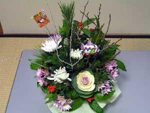 お正月用盛り花