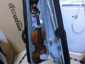 届いたバイオリン