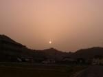 黄砂で見える太陽