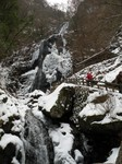 凍った白猪の滝