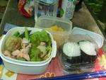 今日のお昼はお弁当