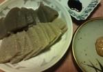 手作りコンニャクの刺身