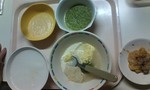 病院食+ロールキャベツ