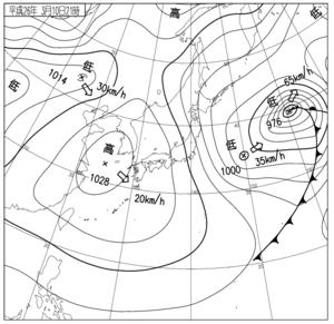 3月10日の天気図