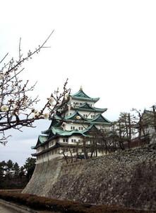 名古屋城 梅 月影