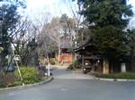 来福寺の赤い鳥居