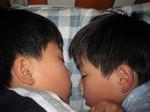 長男と次男の寝顔