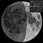 月に隕石落下