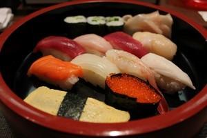丸井今井11Fで食べたにぎり寿司
