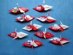 世界の国旗と漢字を表記した折り紙