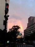 久しぶりに虹を見ました。きれい〜