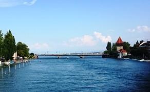Seerheinからボーデン湖をのぞむ