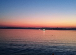 ボーデン湖の夕暮れ