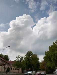 今日の積乱雲