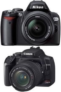 Canon EOS Kiss Digital X と Nikon D4