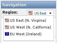 eu-west region (AWS Management Conso