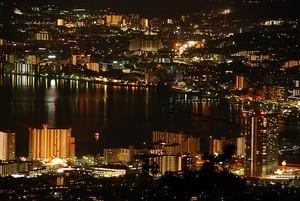 大津市街の夜景