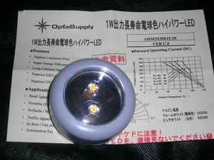 電球色のLEDランプ