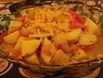 イモと豆で仏家庭料理風に