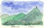 故郷の山々