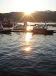 野尻湖夜明け