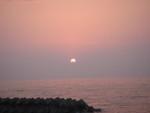 富山のキャンプ場より夕陽