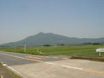筑波山が見えました