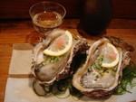 牡蠣と日本酒