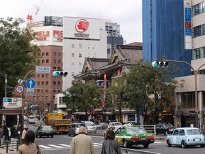 万年橋より歌舞伎座