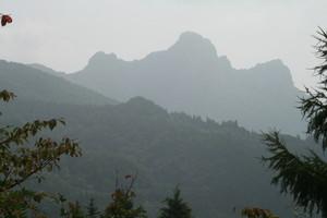 田口峠から、群馬県方面の遠望。
