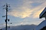 うす雲に、朝日が…。(26.2.19)(6:37)