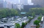 雨降りの朝、ホテルの窓から…。(26.5.