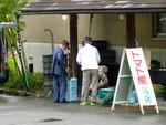 昼神温泉、「朝市(あさいち)」(26.6.