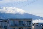 浅間連峰にかかる「白い雲」(28.8.17)(